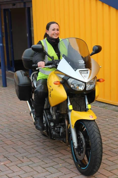 Leanna Moore Instructor Phoenix Motorcycle training Bristol & Wells