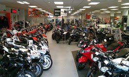 The wide selection of machines at Laguna Motorcycles