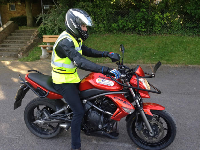Phoenix motorcycle Amesbury training bike ER6